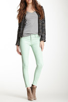 J Brand Leather Mid Rise Stretch Pant
