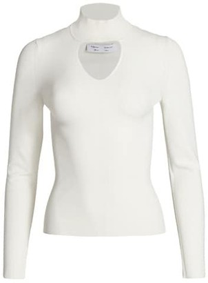 Proenza Schouler White Label Cutout Compact Knit Turtleneck