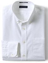 Classic Men's Tailored Fit Supima Oxford Hyde Park Dress Shirt-Deep Sea