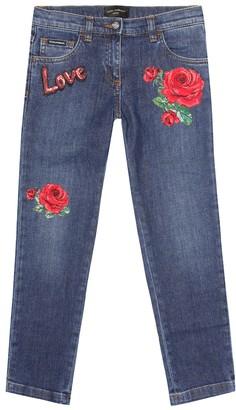 Dolce & Gabbana Kids Embellished jeans