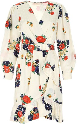 Tory Burch Floral Printed Wrap Dress
