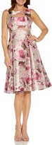 Thumbnail for your product : Adrianna Papell Metallic Floral Jacquard Fit & Flare Cocktail Dress