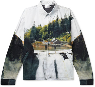 Flagstuff Printed Cotton-Poplin Jacket