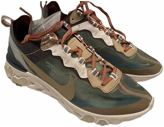 Nike X Undercover React element 87 Green Rubber Trainers
