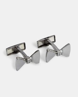 Ted Baker Swarovski Crystal Bow Cufflinks