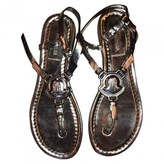 Moncler Silver Leather Sandals