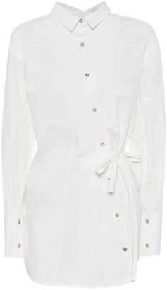 REJINA PYO Tatiana asymmetrical cotton shirt
