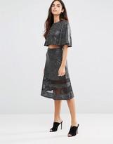 TFNC Mesh Detail Skirt