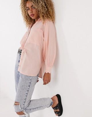 Topshop shirt in pink