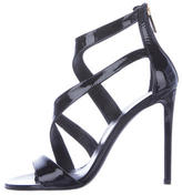 Tamara Mellon Patent Leather Crossover Sandals
