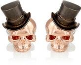 Deakin & Francis Men's Skull & Top Hat Cufflinks-GOLD