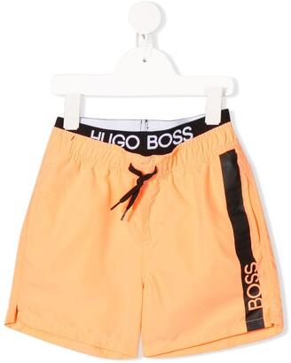 Boss Kids Surfer logo swim shorts