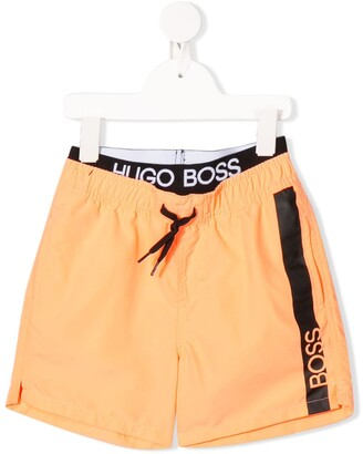 Boss Kidswear Surfer logo swim shorts