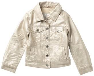 Urban Republic Metallic Faux Leather Trucker Jacket (Toddler Girls)