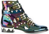 Sophia Webster holographic biker boots