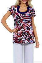 24/7 Comfort Apparel Trails Tunic Top