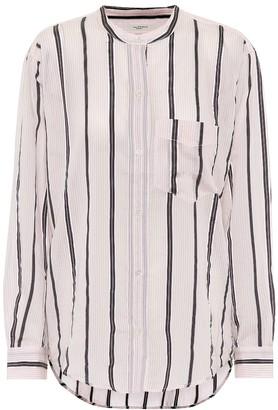 Etoile Isabel Marant Olena striped cotton-blend shirt