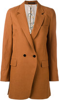 Paul Smith double-breasted midi coat - women - Cotton/Linen/Flax - 40