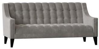 Poshbin Recessed Arm Sofa Body Fabric: Bella Dove, Leg Color: Black, Width: 48 inches