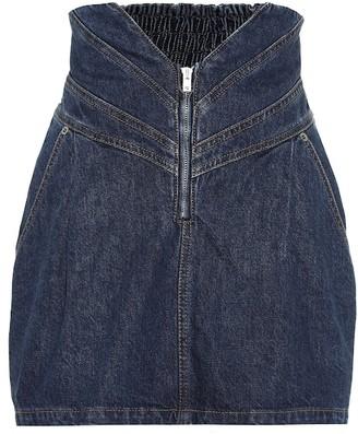 ATTICO High-rise denim miniskirt