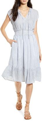 Rails Ashlyn Stripe Linen Blend Dress