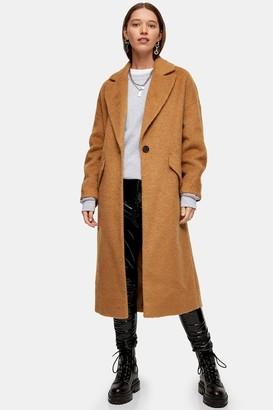 Topshop Camel Slouchy Coat