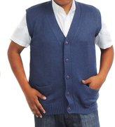 CELITAS DESIGN Vest alpaca and blend V neck buttons made in Peru Steel S