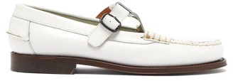 Hereu - Alber Leather Dolly Loafers - Womens - White