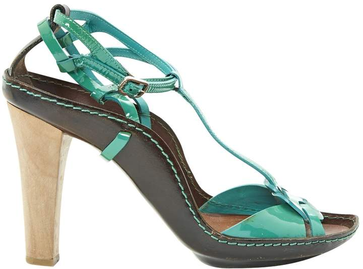 Celine Green Patent leather Sandals