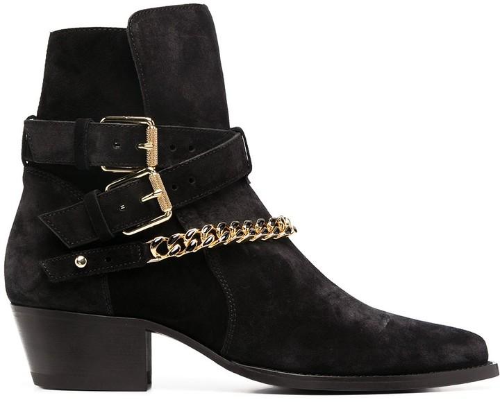 Amiri Chain-Detail Ankle Boots