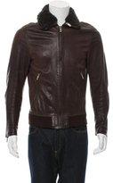 Alexander McQueen Leather Flight Jacket