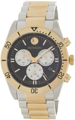 Movado Men's Sport Series Steel PVD Watch, 41mm