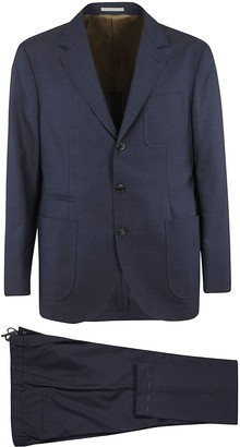 Brunello Cucinelli Triple Patch Single-breasted Suit
