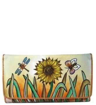Magnifique Bags Hand-Painted Sunflower Wallet