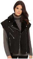 Blank NYC Faux Shearling Vest with Zippers