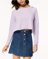 Ultra Flirt Juniors' Lace-Up Cropped Sweatshirt