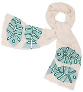Tory Burch Embellished Fish Oblong Scarf
