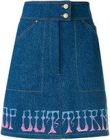 Olympia Le-Tan Griffen skirt - women - Cotton - 34