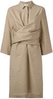 Brunello Cucinelli front wrap midi dress