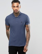 Asos Muscle Pique Polo Shirt With Logo In Blue