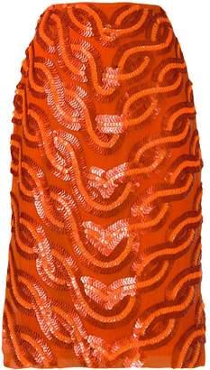 Cavallini Erika embellished midi skirt