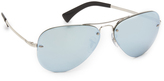 Ray-Ban Highstreet Mirrored Aviator Sunglasses