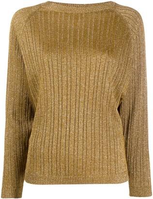 Alysi glitter detail ribbed knit jumper