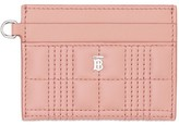 Burberry quilted monogram card holder
