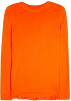 Maison Margiela Orange Pleated-back Fine-knit Jumper