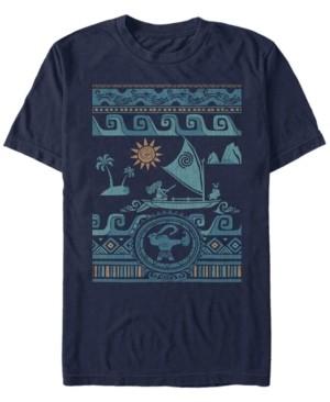 Disney Men's Moana Ocean Sweater Collage, Short Sleeve T-Shirt