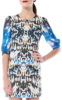 Cynthia Vincent Sequin Print Dress