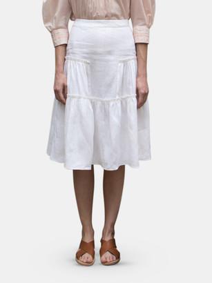 Collectiva Estrella Tiered Midi Skirt