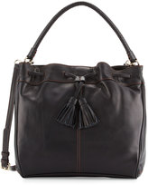 Cole Haan Loveth Drawstring Leather Hobo Bag, Black