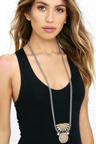 LuLu*s The Hills Iridescent and Silver Necklace